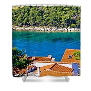 Rooftops Sea And Stone Islands Shower Curtain