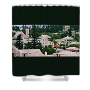 A Unique Aspect Of Rooftops In St. George's,  Bermuda Shower Curtain
