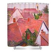 Rooftops Trogir Croatia Shower Curtain