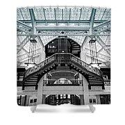 Rookery Building Atrium Shower Curtain