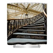 Rookery Building Atrium Staircase Shower Curtain