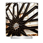 Rookery Building Iron Design Shower Curtain