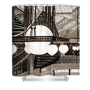 Rookery Building Lights Shower Curtain