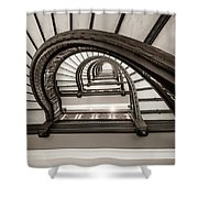 Rookery Building Off Center Oriel Staircase Shower Curtain
