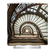 Rookery Building Oriel Staircase Shower Curtain