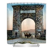 Roosevelt Arch Yellowstone Np Shower Curtain