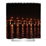 Roosevelt Bridge Panorama Shower Curtain