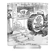 Roosevelt Cartoon, 1908 Shower Curtain by Granger