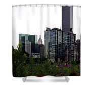 Roosevelt Island View Shower Curtain
