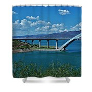 Roosevelt Lake 3 - Arizona Shower Curtain