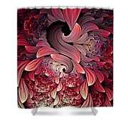 Rooster Abstract Shower Curtain