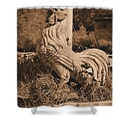 Rooster At The Big Chicken Barn Shower Curtain