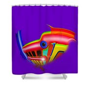 Rooster Shower Curtain by Charles Stuart