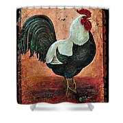 Rooster Fresco Shower Curtain