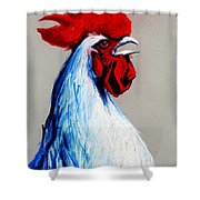 Rooster Head Shower Curtain