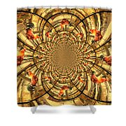 Crowing Rooster Kaleidoscope Shower Curtain
