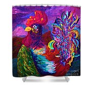 Rooster On The Horizon Shower Curtain