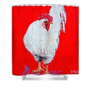 Rooster Raphael Shower Curtain