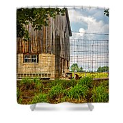 Rooster Turf Shower Curtain