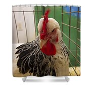 Rooster With Attitude Shower Curtain