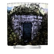 Root Cellar Abstraction Shower Curtain