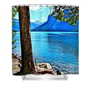 Rooted In Lake Minnewanka Shower Curtain