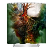 Roots Shower Curtain by Carol Cavalaris