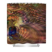 Roots Of Light - Square Version Shower Curtain