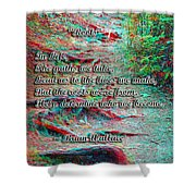 Roots - Use Red/cyan Filtered 3d Glasses Shower Curtain
