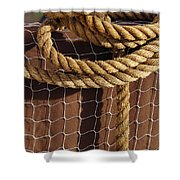 Rope And Net Shower Curtain
