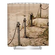 Rope And Wooden Fence Shower Curtain