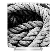 Rope Black And White Shower Curtain