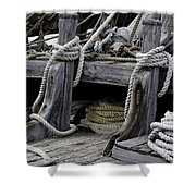 Rope Course Shower Curtain