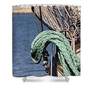 Ropes And Rigging Shower Curtain