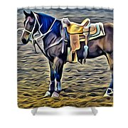 Ropin Horse Shower Curtain