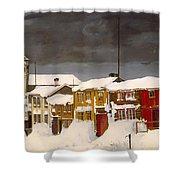 Roros In Winter - Norway Shower Curtain