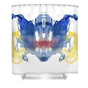Rorschach Type Inkblot Shower Curtain