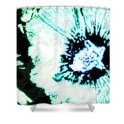 Rosa Sinensis Abstract Shower Curtain