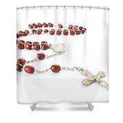 Rosary Beads Shower Curtain by Jose Elias - Sofia Pereira