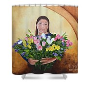 Rosa's Roses Shower Curtain