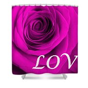 Rose 16 Love Shower Curtain