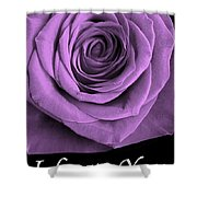 Rose 5 I Love You Shower Curtain