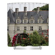 Rose And Cabbage Garden Chateau Villandry Shower Curtain