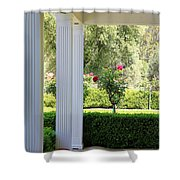 Rose And Front Porch Shower Curtain