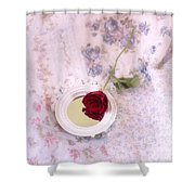 Rose And Mirror Shower Curtain