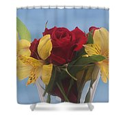 Rose And Peruvian Lilies Shower Curtain
