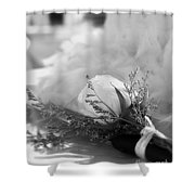 Rose And Wedding Cake Shower Curtain