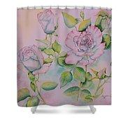 Rose Bloom Shower Curtain