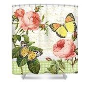 Rose Blush-a Shower Curtain