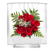 Rose Bouquet From Above Shower Curtain